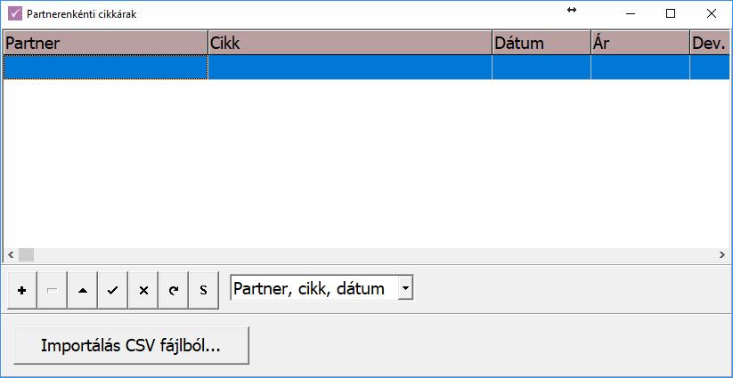 Partner és cikk összefüggések importálása CSV állományból (RAXLA)