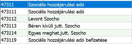 Szocho új számlaszámai