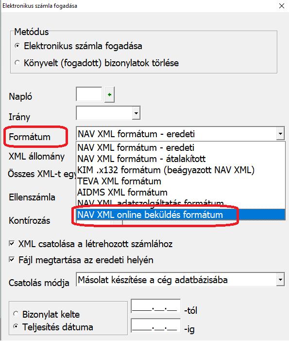 Nav xml online