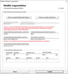 WebBér regisztráció-Bérszámfejtő cég megadása