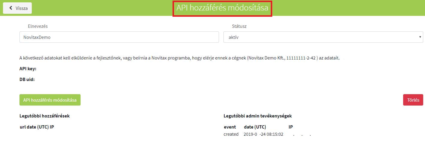 API hozzáférés módosítás_törllés új