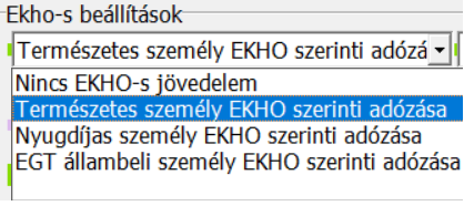 EKHO-s beállítások