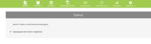 Szabadság-igénylés helyettes megjelöléssel Beállítások-Szerviz menüpont