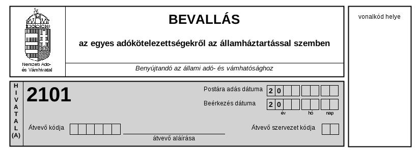 2101 bevallás a kettős könyvviteli programban