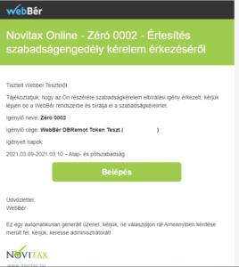 Szabadság engedély e-mail
